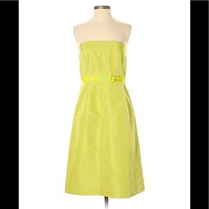 NWT J. Crew Lime Green Special Occasions Dress